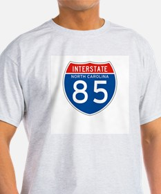 Interstate 85 - NC Ash Grey T-Shirt