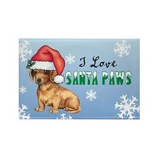 Holiday Dachshund Rectangle Magnet
