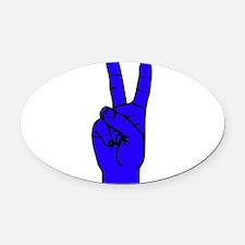 Sign Language 2 e1 Oval Car Magnet