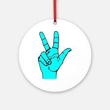 Sign Language 3 e1 Ornament (Round)