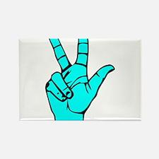 Sign Language 3 e1 Rectangle Magnet