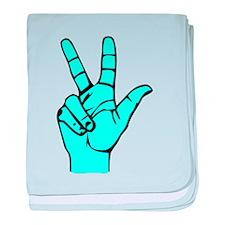Sign Language 3 e1 baby blanket