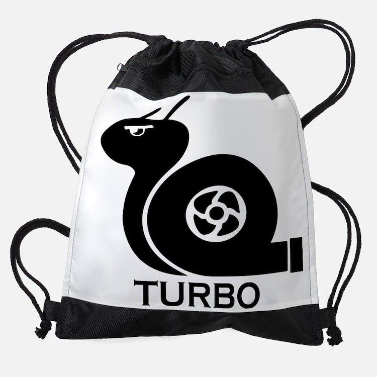 turbo snail Drawstring Bag