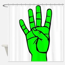 Sign Language 4 e1 Shower Curtain