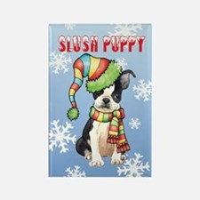 Holiday Boston Terrier Rectangle Magnet