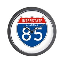 Interstate 85 - AL Wall Clock