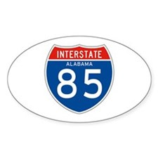 Interstate 85 - AL Oval Decal
