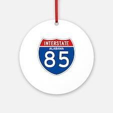 Interstate 85 - AL Ornament (Round)