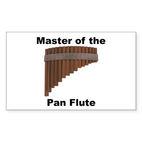 Master of the Pan Flute Rectangle Sticker