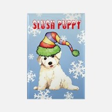 Holiday Bichon Rectangle Magnet