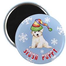 Holiday Bichon Magnet