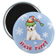 """Holiday Bichon 2.25"""" Magnet (10 pack)"""