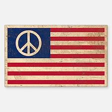 PEACE - Retro AMERICAN FLAG Decal