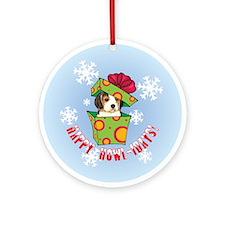 Holiday Beagle Ornament (Round)