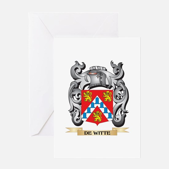 De-Witte Coat of Arms - Family Cres Greeting Cards