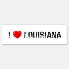 I * Louisiana Bumper Car Car Sticker