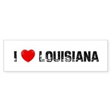 I * Louisiana Bumper Car Sticker