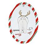 Bichon Frise Christmas Oval Ornament