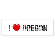 I * Oregon Bumper Bumper Sticker