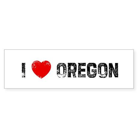 I * Oregon Bumper Sticker
