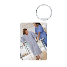 Physical therapist helping Keychains