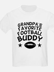 Grandpas Favorite Football Buddy T-Shirt