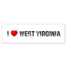 I * West Virginia Bumper Bumper Sticker