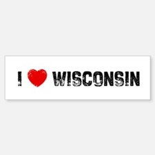 I * Wisconsin Bumper Bumper Bumper Sticker
