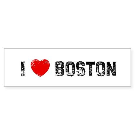 I * Boston Bumper Sticker