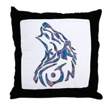 Tribal Wolf Art 9 Throw Pillow