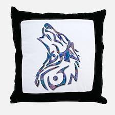 Tribal Wolf Art 9 Throw Pillow