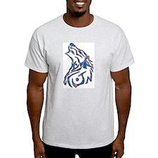 Tribal Wolf Art 9 Ash Grey T-Shirt