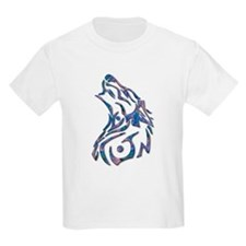 Tribal Wolf Art 9 Kids T-Shirt