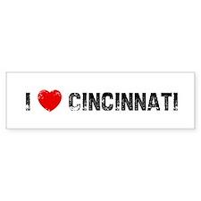 I * Cincinnati Bumper Bumper Sticker