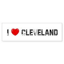 I * Cleveland Bumper Bumper Sticker