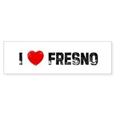 I * Fresno Bumper Car Sticker