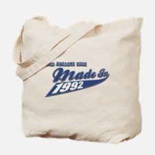 Made in 1992 Tote Bag