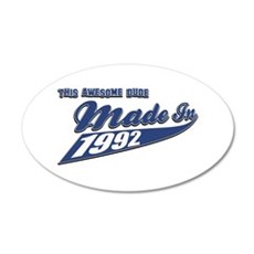 Made in 1992 20x12 Oval Wall Decal