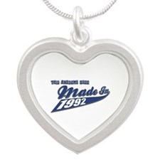 Made in 1992 Silver Heart Necklace