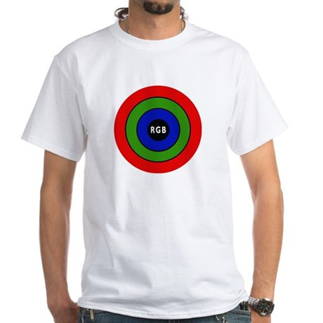 """RGB"" White T-Shirt"