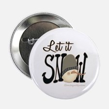 "Let It Snow 2.25"" Button (100 pack)"