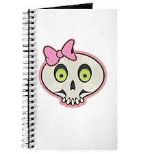 Cute Pink Girl Skull Face Journal