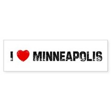 I * Minneapolis Bumper Bumper Sticker
