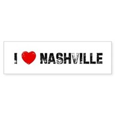 I * Nashville Bumper Bumper Sticker