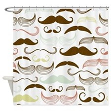 Mustache Pattern Shower Curtain