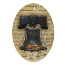 Liberty Bell and the Declaration o Ornament (Oval)