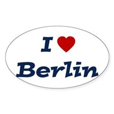 I HEART BERLIN Oval Stickers