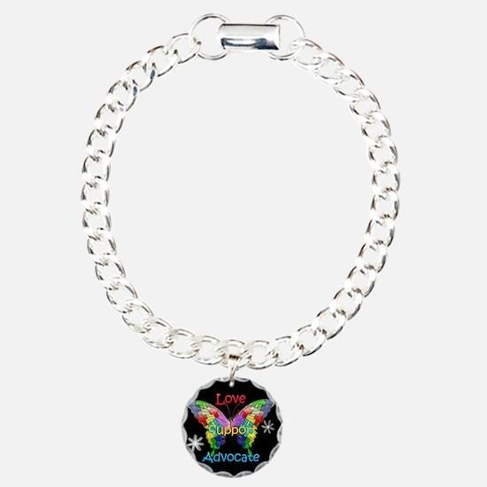 Autism Awareness Butterfly Bracelet