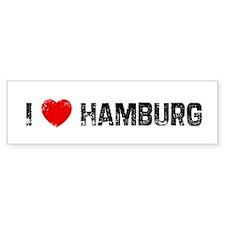 I * Hamburg Bumper Bumper Sticker