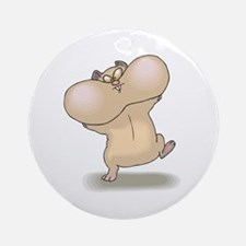 Funny Hamsters with Cheeks Full Ornament (Round)